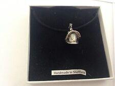 Roman Gladiator Helmet RGHKR Pewter Emblem ON A BLACK CORD Necklace Handmade