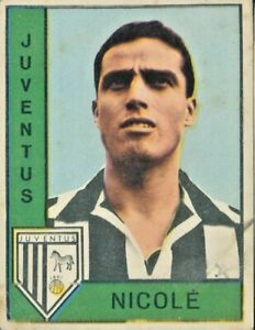 NICOLE' JUVENTUS R@RISSIM@  FIGURINA COLLEZIONE PANINI 1962/63