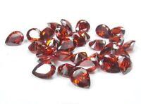 Natural Garnet Gemstone Garnet Cabochon Red Garnet Pear Shape 5X8 MM Lots H2751