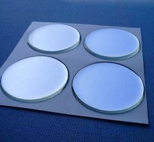 (49ch) 4 piezas cromo emblemas para tapacubos llantas tapa 49mm silicona pegatinas