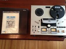 AKAI Reel to reel GX-265D complete with manual + plastic cover Working condition