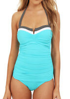Tommy Bahama Bandeau Tummy Control Ruched V-Front Swimsuit One Piece 12 Nwt
