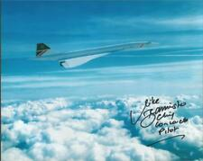 Captain Mike Bannister Concorde Chief Pilot signed Above Clouds photo - ABC