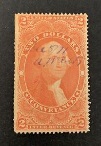 Usa George Washington Revenue Stamp See Pics