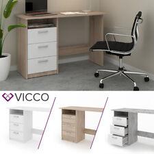 VICCO Schreibtisch MEIKO Arbeitstisch Bürotisch Regal PC Tisch Schubladen Ablage
