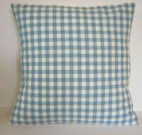 "Laura Ashley Gingham Check Chambray Blue 16"" Cushion Cover"