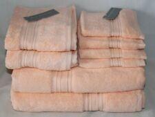 Hotel Twenty One Eight Piece Towel Set Peach 100% Turkish Cotton New