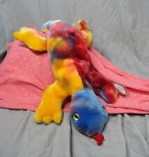 1999 Ty Beanie Buddies Lizzy the Lizzard Plush Rainbow Tie Dye Buddy Lizzie