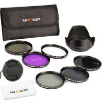 77MM Filter Kit UV CPL FLD ND2 4 8 + Lens Hood Cap for Canon Nikon K&F Concept