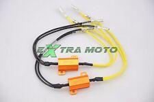Resistenze 25w universali per frecce a LED CABLATE dissipatore 2PZ moto auto