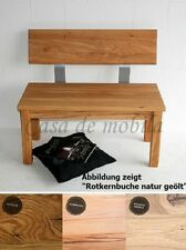 Massivholz Sitzbank 160cm mit Rückenlehne Eßzimmer-bank holz geölt Küchenbank