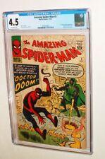 1963 MARVEL AMAZING SPIDER MAN ISSUE #5 COMIC BOOK CGC 4.5 CONDITION