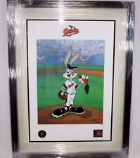 Looney Tunes McKimson Orioles Warner Bros Bugs Bunny Now Pitching Baseball Litho