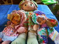 lot poupée  maman chiffon et ses 2petites blondes =attendent adoption aimante