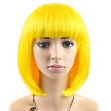 Women Lady Girl Bob Wig Short Straight Bangs Full Hair Wigs Cosplay Party Wigs