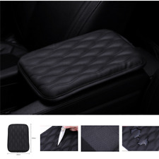 Black Car Armrest Pad Box Mat PU Leather Console Liner Cushion Cover Universal