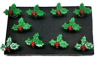 MISTLETOE Christmas Push Pins Set of 10 Handmade Decorative Memo Thumb Tacks