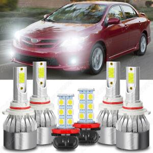 Para For Toyota Corolla 2009 2010 2011 2012 2013 6x Faros LED Faros antiniebla