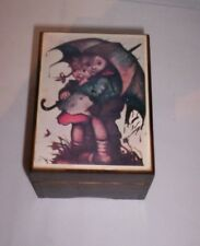 "Linden Made in Japan Wood Music Box - ""Raindrops Keep Falling On My Head"""
