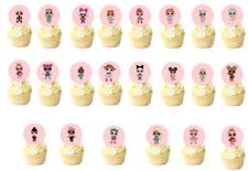 22 X Tarjeta De Oblea Comestible lol Muñecas Cupcake levantado redondo toppers precortadas * 4.5 Cm