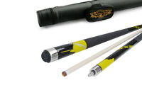 Champion Yellow Spider Pool Cue Stick,Pool Case,Quick Release Joint,Cuetec Glove
