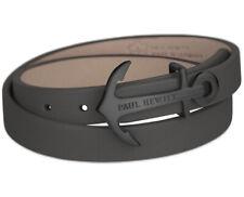 Paul Hewitt Black buckle leather bracelet  PH-WB-B-13M RRP £59.95