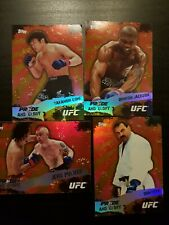 Topps ufc 2010 Series 4 Pride And Glory Insert Lot