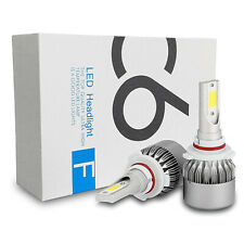 9006 C6 LED COB Built In Harness Super White 6000K Fit Low Beam Light Bulbs P52