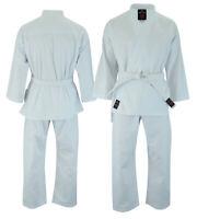 Malino Karate Suit Gi 8oz White Uniform Kids 100 110 120 130 140 150 Free Belt