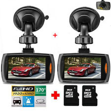 "2 Pack 2.4"" 1080P HD Car DVR Vehicle Camera Video Recorder Dash Cam Night Vision"