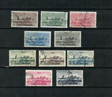 LEBANON LIBAN french colonies COMPLETE USED SET Airplane STAMPS  LOT (Leb 1021)