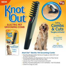 Knot Out Electric Pet Grooming Comb Black Grey Dog Cat Hair Trimmer Cuts Tangles