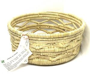 """Bangladesh Large Rope Basket 10"""" diameter Enfantes du monde"""