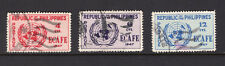 Philippines Scott 516-18 Used United Nations Emblem