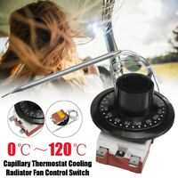 Universal Capillary Car Thermostat Cooling Radiator Fan Control Switch 0℃~120℃