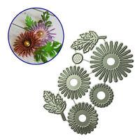 Useful Flower Leaf Metal Cutting Dies Embossing Stencil Scrapbooking Crafts 7pcs
