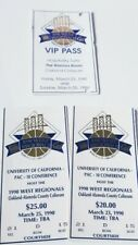 1990 NCAA BASKETBALL WEST REGIONAL TICKET STUB 2 days/ Hospitality VIP suite