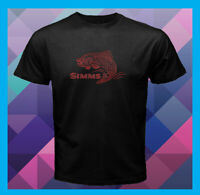Simms Fishing Logo Gear Fly Rods NEW Men's Black T-Shirt S M L XL 2XL 3XL