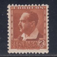 ESPAÑA (1932) NUEVO SIN FIJASELLOS MNH SPAIN - EDIFIL 662 (2 cts) - LOTE 1