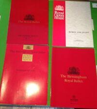 Four Royal Opera House programmes (1980's / 90's)