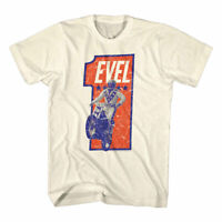 Evel Knievel Vintage Stunt Bike 1 Stars Mens T Shirt Jumping Motorcycle Rider