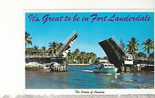 It's Great To Be In Fort Lauderdale  FL  Unused Chrome Postcard 1617