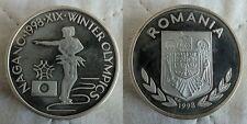 Rare 1998 Romania Aluminum 100 Lei Pattern Olympic Figure Skating