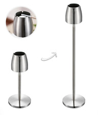 Stainless Steel Telescopic Ashtray Floor Standing Ash Tray Portable Metal Large