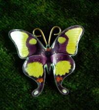 schöne Brosche - Schmetterling  - Emaille