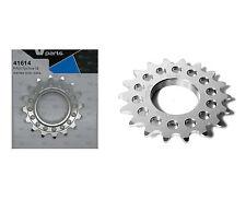 Piñon Fijo de Bicicleta Fixie Ruder Berna 16T Aluminio Plata Mecanizado CNC 3607