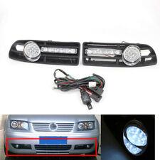 2Pcs/Set GRILLE With LED FOG Light & Wiring FOR VW BORA 99-04 & LED DRL Complate