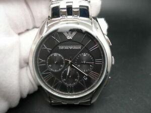 New Old Stock EMPORIO ARMANI AR1786 Chronograph Stainless Steel Quartz Men Watch