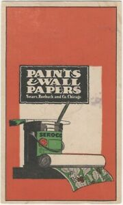 1920s Sears Roebuck Interior Paints & Wallpaper Advertising Mailing Post Card