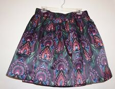 Alice + Olivia Stora box pleat pouf skirt in Art Deco sateen print sz 8 NWT $330